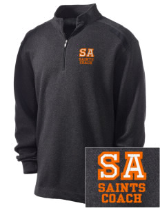 Saint Anthony Catholic School Saints Embroidered Nike Men's Golf Heather Cover Up
