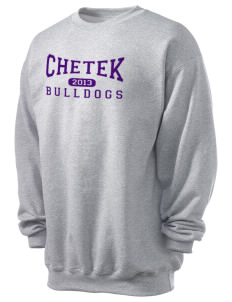 Chetek High School Bulldogs Men's 7.8 oz Lightweight Crewneck Sweatshirt