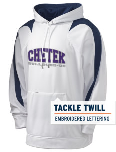 Chetek High School Bulldogs Holloway Men's Sports Fleece Hooded Sweatshirt with Tackle Twill