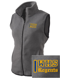 West High School Regents Embroidered Women's Fleece Vest
