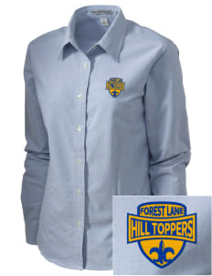 Forest Lane Elementary School Hill Toppers Embroidered Women's Classic Oxford