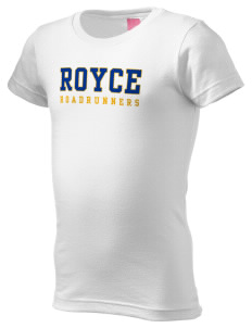 Royce Elementary School Roadrunners  Girl's Fine Jersey Longer Length T-Shirt