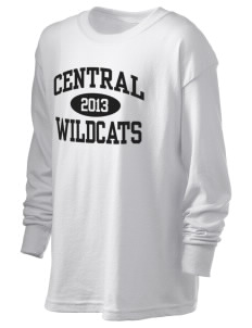 Central Middle School Wildcats Kid's 6.1 oz Long Sleeve Ultra Cotton T-Shirt