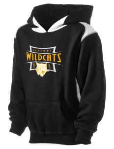 Central Middle School Wildcats Kid's Pullover Hooded Sweatshirt with Contrast Color