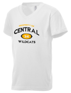 Central Middle School Wildcats Kid's V-Neck Jersey T-Shirt