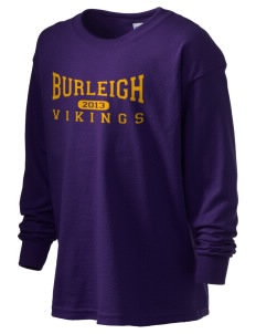 Burleigh Elementary School Vikings Kid's 6.1 oz Long Sleeve Ultra Cotton T-Shirt