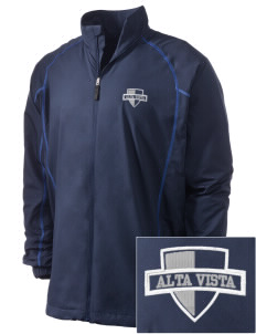 Alta Vista Elementary School Wolves Embroidered Men's Nike Golf Full Zip Wind Jacket