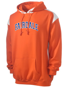 Fairdale Elementary School Falcons Men's Pullover Hooded Sweatshirt with Contrast Color