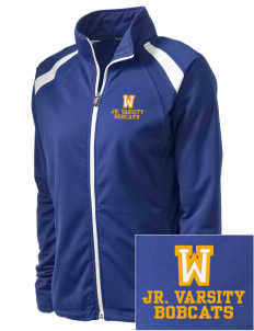 Willard Elementary School Bobcats Embroidered Women's Tricot Track Jacket