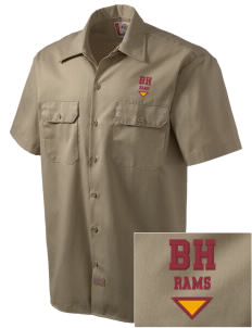 Big Horn Elementary School Rams Embroidered Dickies Men's Short-Sleeve Workshirt