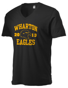 Wharton Elementary School Eagles Alternative Men's 3.7 oz Basic V-Neck T-Shirt