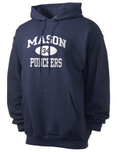 Mason High School Punchers Men's 7.8 oz Lightweight Hooded Sweatshirt