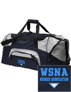 Washington State Nurses Association Embroidered Colorblock Duffel Bag