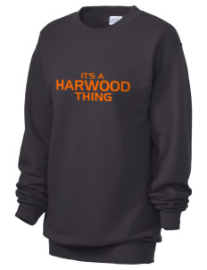 Harwood Junior High School Blackhawks Unisex 7.8 oz Lightweight Crewneck Sweatshirt