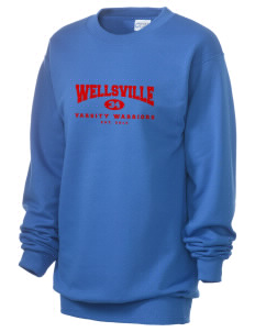 Wellsville Elementary School Warriors Unisex 7.8 oz Lightweight Crewneck Sweatshirt