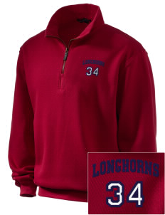 Altamont High School Longhorns Embroidered Men's 1/4-Zip Sweatshirt
