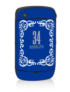 Rich High School Rebels Black Berry 8530 Curve Skin