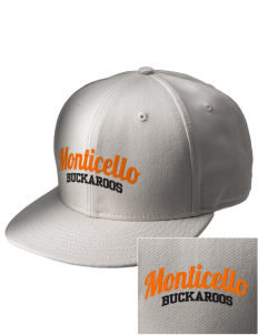 Monticello High School Buckaroos  Embroidered New Era Flat Bill Snapback Cap