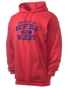 Richfield High School Wildcats Men's 7.8 oz Lightweight Hooded Sweatshirt