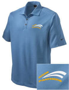 Dixon Middle School Panthers Embroidered Nike Men's Dri-FIT Pique II Golf Polo
