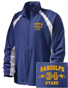 Randolph Elementary School Stars  Embroidered Men's Full Zip Warm Up Jacket