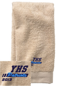 Yorktown High School Patriots  Embroidered Zero Twist Resort Hand Towel