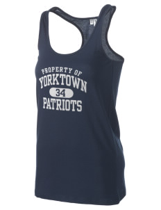 Yorktown High School Patriots Women's Racerback Tank