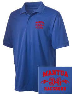 Mantua Elementary School Raccoons Embroidered Men's Micro Pique Polo