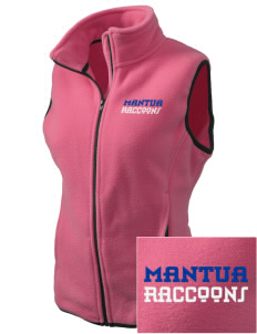 Mantua Elementary School Raccoons Embroidered Women's Fleece Vest