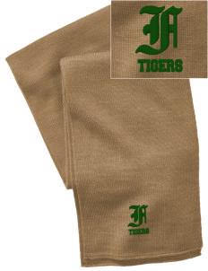 Fairhill Elementary School Tigers  Embroidered Knitted Scarf