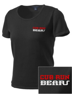 Cub Run Elementary School Bears Embroidered Women's Fine-Gauge Scoop Neck Sweater