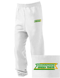 Narrows High School Green Wave Embroidered Kid's Sweatpants