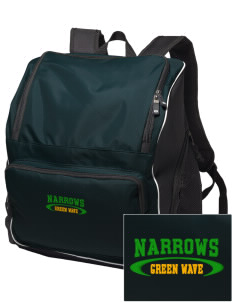Narrows High School Green Wave Embroidered Holloway Backpack