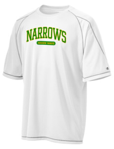 Narrows High School Green Wave Champion Men's 4.1 oz Double Dry Odor Resistance T-Shirt