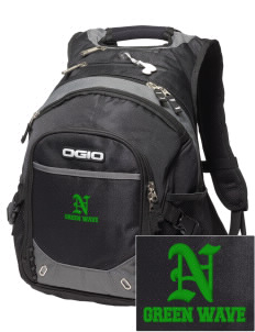 Narrows High School Green Wave Embroidered OGIO Fugitive Backpack