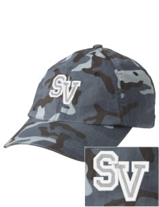 Sunset View Elementary School Mustangs Embroidered Camouflage Cotton Cap