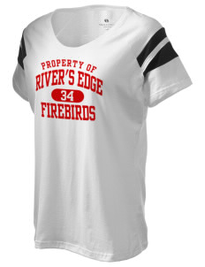 River's Edge High School Firebirds Holloway Women's Shout Bi-Color T-Shirt