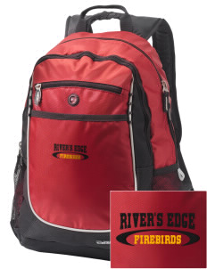 River's Edge High School Firebirds Embroidered OGIO Carbon Backpack