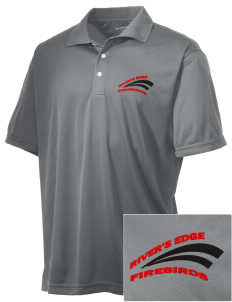 River's Edge High School Firebirds Embroidered Men's Double Mesh Polo