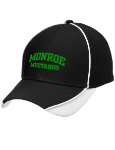 Monroe Elementary School Mustangs Embroidered New Era Contrast Piped Performance Cap