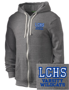 La Center High School Wildcats Embroidered Alternative Men's Rocky Zip Hooded Sweatshirt