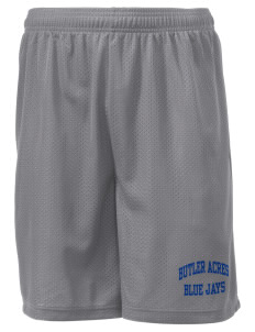 "Butler Acres Elementary School Blue Jays Men's Mesh Shorts, 7-1/2"" Inseam"