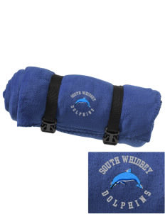 South Whidbey Intermediate School Dolphins Embroidered Fleece Blanket with Strap