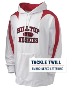 Hilltop Elementary School Huskies Holloway Men's Sports Fleece Hooded Sweatshirt with Tackle Twill
