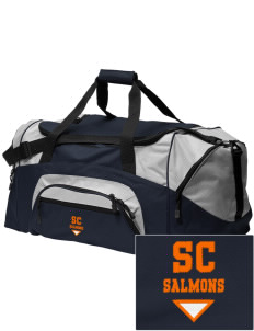 Salmon Creek Elementary School Salmons Embroidered Colorblock Duffel Bag