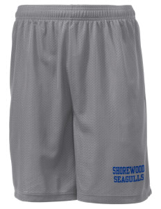 "Shorewood Elementary School Seagulls Men's Mesh Shorts, 7-1/2"" Inseam"