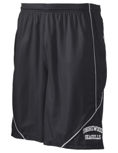 "Shorewood Elementary School Seagulls Men's Pocicharge Mesh Reversible Short, 9"" Inseam"