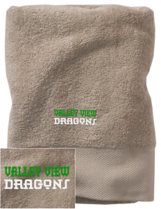 Valley View Elementary School Dragons Embroidered Zero Twist Resort Towel