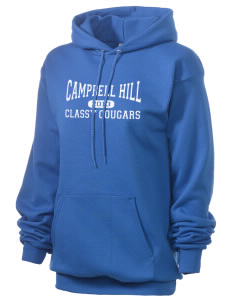 Campbell Hill Elementary School Cougars Cubs Unisex 7.8 oz Lightweight Hooded Sweatshirt