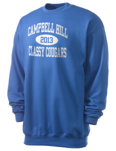 Campbell Hill Elementary School Cougars Cubs Men's 7.8 oz Lightweight Crewneck Sweatshirt